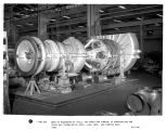 8000 HP regenerative cycle, two shaft gas turbine in construction for Texas Gas Transmission...