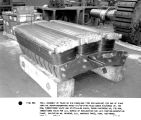 Trial assembly of poles on rim punchings (150 rpm machine) for one of eight vertical...