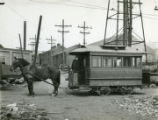Albany, New York, Lumber District Horse Car driven by J. McMahon
