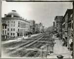 Albany, New York, Broadway from Maiden Lane, 1863