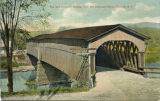 The Old Covered Bridge, over the Delaware River, Deposit, NY