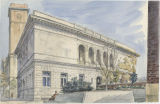 Troy Public Library, Troy, NY (watercolor)