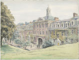 Quadrangle Complex, Rensselaer Polytechnic Institute, Troy, NY (watercolor)