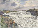 Cohoes Falls, Cohoes, NY (watercolor)