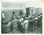 1926-1927 - Photograph of a classroom at Hartwick Seminary