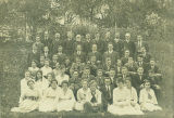 1916 or 1917 - Hartwick Seminary faculty with some students