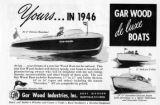 Advertisement for Gar Wood de luxe boats
