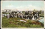 Arrival of Pilgrims by Canal Boat, Auriesville, N. Y.