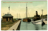 Boat Locking on the Cornwall Canal near Cornwall, Ont., Canada