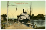 Arrival of Steamer from Toronto. Port Dalhousie, Ont., Canada