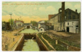 Locks No. 1 and 2, looking West from Ovid Street, Seneca Falls, N.Y.
