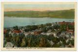 BIRD'S EYE VIEW OF WATKINS AND SENECA LAKE, WATKINS, N.Y.