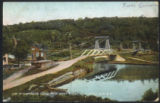 VIEW OF SUSPENSION BRIDGE FROM WEST SHORE R. R., LITTLE FALLS, N Y.
