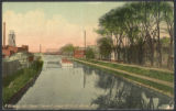A View up the Canal from George Street, Rome, N.Y.