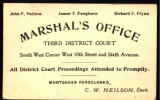 New York City Marshal's Office Third District Court Card