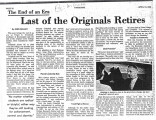 Last of the Originals Retires