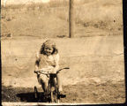 Toddler Pat Soukup on Tricycle