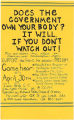 """Does the Government Own Your Body"" Flyer"