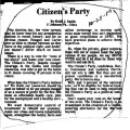 Citizens Party Article