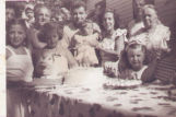 Birthday party at Mastic Beach residence, Summer 1952