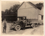 W.W. Crannell Sr. and W. W. Crannell, Jr. with their truck, Voorheesville, N.Y.