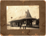 The train station at Voorheesville, N.Y.