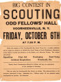 Big Contest in Scouting, Odd Fellows' Hall, Voorheesville, N.Y., Friday, October 6th at 7:30 p.m.