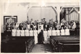 Performers of the Jubilee Pageant performed at the First Presbyterian Church of Voorheesville,...