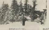 Woman at Evergreen Lodge