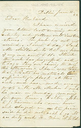 1852-06-11 Letter from Laura Sherwood to Samuel Sherwood