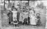 Group of Thirteen Children at the Fort Edward Collegiate Institute Park, Fort Edward, New York