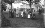 Group of Nine Children at the Fort Edward Collegiate Institute Park, Fort Edward, New York