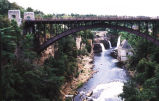 bridge over AuSable River at AuSable Chasm
