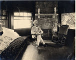 1903, Mark Twain in study seated