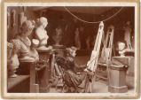 Cowles Hall Art Studio - woman at easel