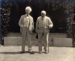 1903, Mark Twain with John Lewis at Quarry Farm