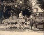 1903, Photo of John Lewis on his wagon