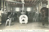 "N.Y. State School of Agriculture, Alfred, N.Y. -- """"Class in Blacksmithing"""""