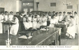 "N.Y. State School of Agriculture, Alfred, N.Y. -- """"Class in Domestic Science"""""