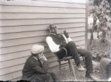 Josiah Bonsell, staff of Bowers family, 1902, telling stories; Josiah Bonsell, staff of Bowers...