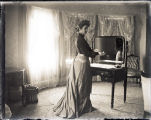 Frances Bowers at her dressing table (2 of 3)