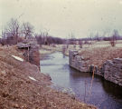 Remains of Genesee Valley Canal Lock 35 chamber in the town of Nunda, N.Y.