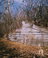Remains of the lower gate of Genesee Valley Canal Lock 56 in Portage, N.Y.