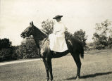 Martha Blow Wadsworth on horseback