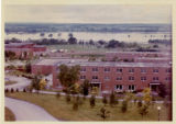 View of the Geneseo Flats looking west across the SUNY Geneseo campus during the flood of 1972.