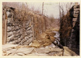 Remains of a Genesee Valley Canal lock at Mount Morris, N.Y.