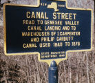 State marker for Canal Street in Scottsville, N.Y.