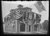 Capen Hose Company draped in bunting for Old Home Week, July 1911