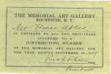Membership Card for Elmer Adler