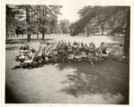 Creative Workshop Summer Class on lawn of Memorial Art Gallery June 1941